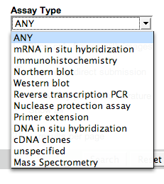 ZFIN's Assay Type CV